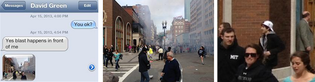 The image captured by Adam's friend David Green that ultimately led to the capture of Boston Marathon bomber Dzhokhar Tsarnaev and catalyzed Adam's drive to attempt his 163-mile run.